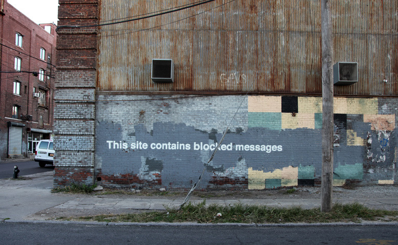 """""""The biggest eyesore in New York is not the graffiti, it's under construction at ground zero"""""""